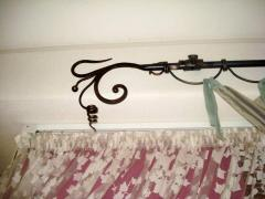 Eaves shod for curtains