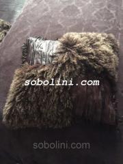 Королевский комплект из ковра и подушки из кожи