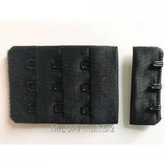 Застежка 38 мм Черная,  S38G38*3S