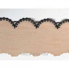 Кружево вышивка на сетке бежевое 41-08