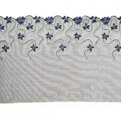 Кружево вышивка на сетке черное 100-24