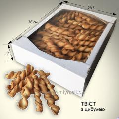 Сдобное слоеное печенье Твист с луком