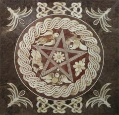 Table-top Marquetry star