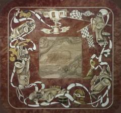 Marquetry table-top 7