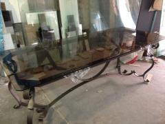Обеденный стол из закаленного стекла