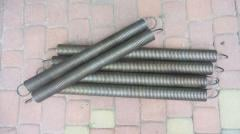 Springs for lifting and rotary gate