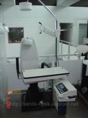 Repair of the ophthalmologic equipment, guarantee