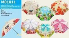Зонт M01011, 60шт/5, щеночки, 6 видов, матов.клеёнка