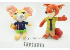 Мягкая игрушка MP 1470 животное, размер маленький, 15 см., Присоски, Микс видов.