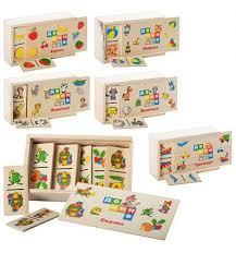 Деревянная игрушка Домино MD 0017, 120шт, 6видов, игр, фру, р, сказки, животн-2, в пенал, 15,5-4-9см