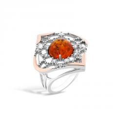 Ring with amber, 627