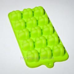 Силиконовая форма для шоколада и льда 12 шт