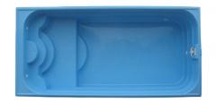 Бассейн Классика-2 7,4 х 3,5 х 1,1/1,7м с перепадом глубины с оборудованием и монтажом