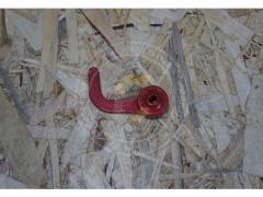 Крюк прижим нитки с резиновой втулкой