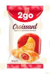 Croissant 2go met aardbeien topping 0,06 kg