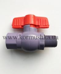 Кран с внутренней/наружной резьбой 1/2 пластмассовый, 648030958