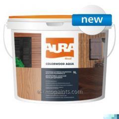 Dekoracyjnych i ochronnych środek do drewna Aura ColorWood Aqua 9L