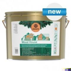 Slitesterk glasur for tre fasader Eskaro Wood House 9l