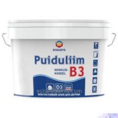 עמיד לרטיבות דבק עץ של D3 בכיתה התנגדות מים (תקן EN 204 / D3) Eskaro B3 Niiskuskindel Puiduliim