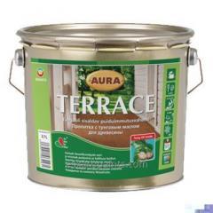 Масло для террас,  cодержит тунговое масло  Aura