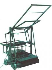 Equipment for production of a brick, mechanical