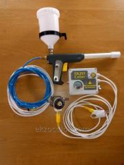 Ручной пистолет электростатический для напыления порошковой краски EkzoColor.