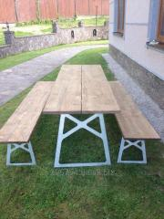 Folding tables benches for terraces, gazebos.