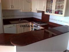 Столешницы для кухни и ванной из гранита Red Multi