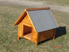 Будки для собак из дерева, деревянная будка для