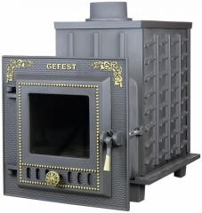 Дровяная печь-камин для бани Гефест ПБ-04М