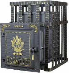 Дровяная печь-камин для бани Гефест ПБ-04С