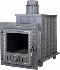 Дровяная печь-камин для бани Гефест ПБ-03М