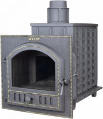 Дровяная печь-камин для бани Гефест ПБ-03П