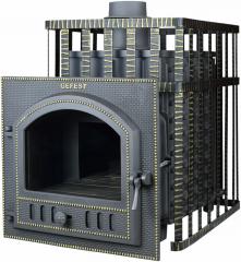 Дровяная печь-камин для бани Гефест ПБ-03ПС