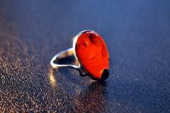 Янтарный перстень кольцо Модерн С