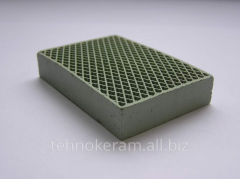 Ceramic panels or plates of infrared radiation of