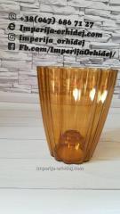 Кашпо для Орхидей Ромашка, бронза d140mm