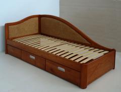 Кровать деревянная подростковая с ящиками...