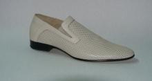 Туфли мужские белые с перфорацией. Модель 7450103