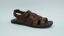 Удобные сандалии мужские, кожа натуральная. Модель