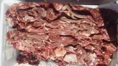Carne congelada em multibloco Graus I, calibre de 10-20 cm.