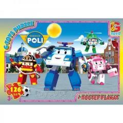 Пазлы ТМ G-Toys из серии Робокар Полли, 126 элементов, RR067440