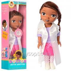 Кукла 551-1A врач, Музыкальный , Бат., Таб., Кор., 12-38-8,5 см.