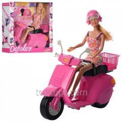 Кукла Defa 8246 мотоцикл, шлем, кор., 28-28-8 см.