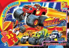 Пазлы ТМ G-Toys из серии Blaze,  Блейз,  35...