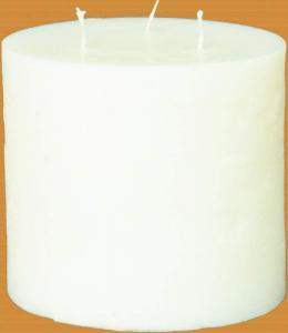 Candel Rustic Cylinder 3 wicks white ( D-15 х 120