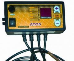 Автоматика Atos для твердотопливных котлов