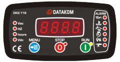 DATAKOM DKG-116 MPU Controller Manual and remote