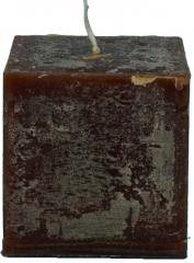 Candel Rustic Square chocolate ( 7,5*7,5 х 7,5 ,