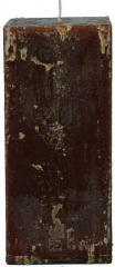Candel Rustic Square chocolate ( 7,5*7,5 х 15,5 ,